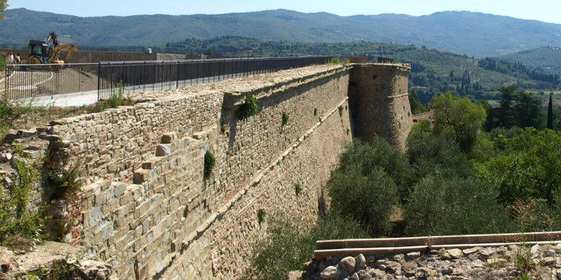 Restoration of the Medicea fortress--Arezzo